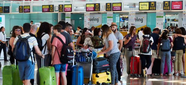 Jornada de huelga de trabajadores de Iberia en El Prat