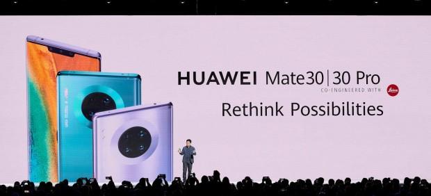 Huawei presenta sus teléfonos Mate 30 y Mate 30 Pro en Múnich