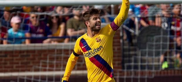 Gerard Piqué, con el Barcelona