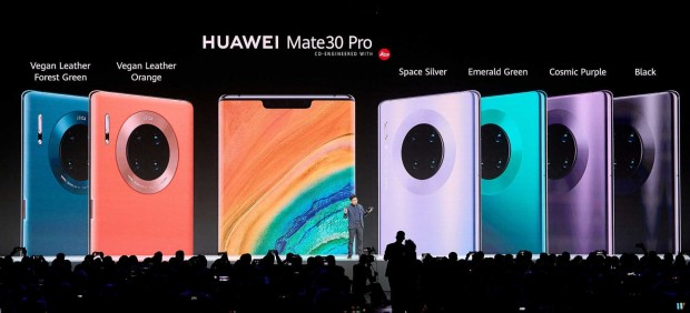 Huawei muestra los diferentes colores del Mate 30 Pro