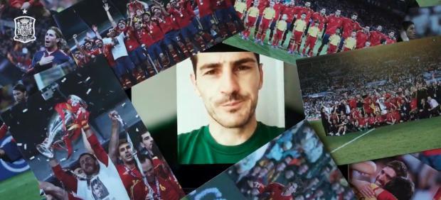 Iker Casillas en la felicitacion a Sergio Ramos por su récord
