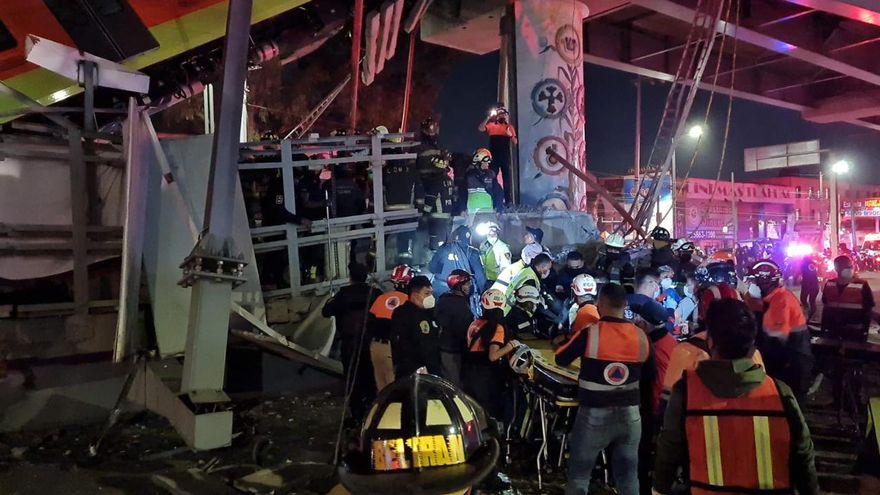 Al menos 20 muertos y 49 hospitalizados al desplomarse un tramo de metro en Ciudad de México