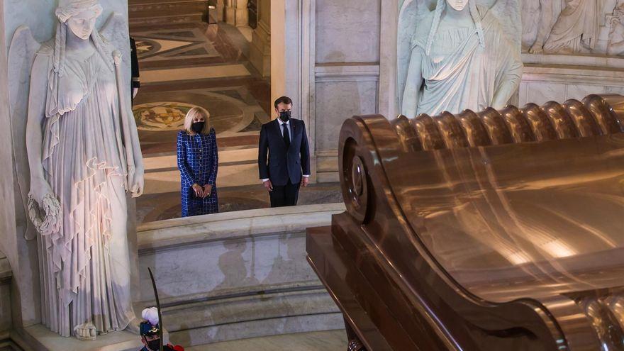 Macron, durante la celebración por el aniversario de la muerte de Napoleón: