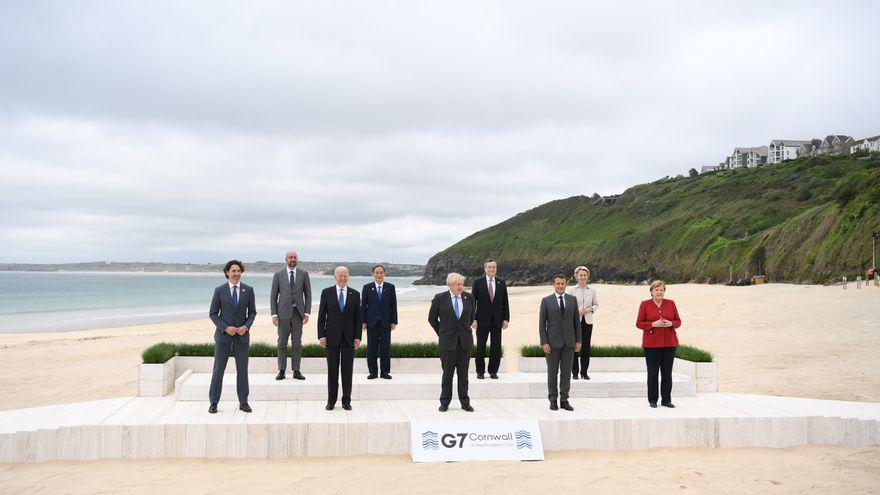 El G7 se compromete con los impuestos a las multinacionales, las emisiones cero para 2050 y lanza mensajes a China y Rusia