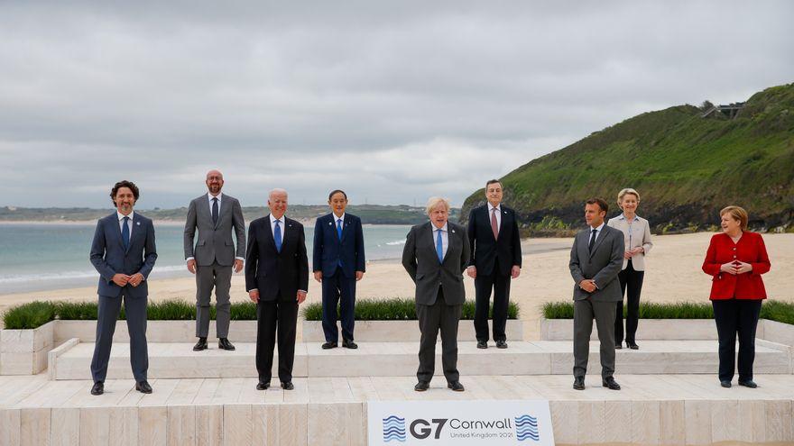 El G7 acuerda donar 870 millones de vacunas, la mitad antes de que acabe el año