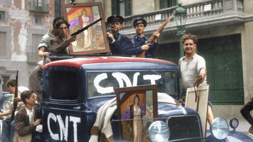 20 fotografías en color de la II República y la Guerra Civil en España